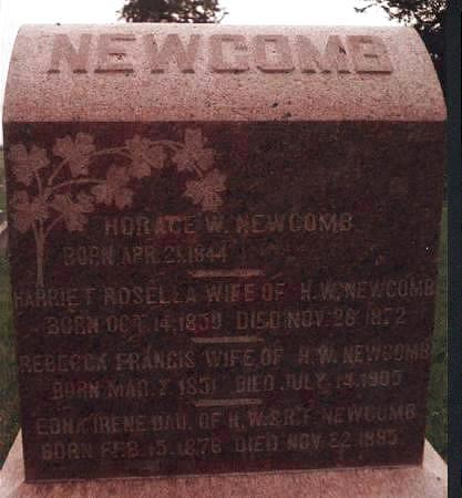 REGISTER NEWCOMB, HARRIET ROSELLA - Adams County, Iowa | HARRIET ROSELLA REGISTER NEWCOMB