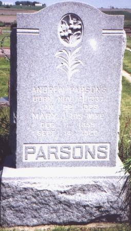 PARSONS, MARY - Adams County, Iowa | MARY PARSONS