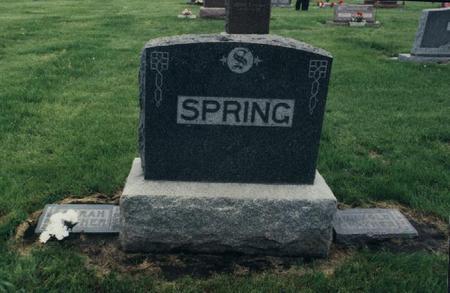 SPRING, ARNOLD - Adams County, Iowa | ARNOLD SPRING