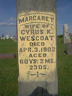 WESCOAT, MARGARET - Adams County, Iowa | MARGARET WESCOAT