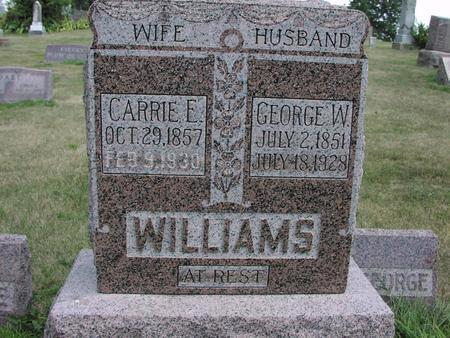 WILLIAMS, GEORGE W. - Adams County, Iowa | GEORGE W. WILLIAMS