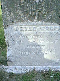 WOLF, PETER - Adams County, Iowa | PETER WOLF