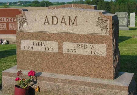 ADAM, FRED W. - Allamakee County, Iowa | FRED W. ADAM