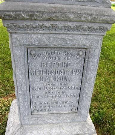 BAKKUM, BERTHE - Allamakee County, Iowa | BERTHE BAKKUM
