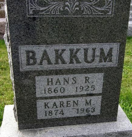 BAKKUM, KAREN M. - Allamakee County, Iowa | KAREN M. BAKKUM