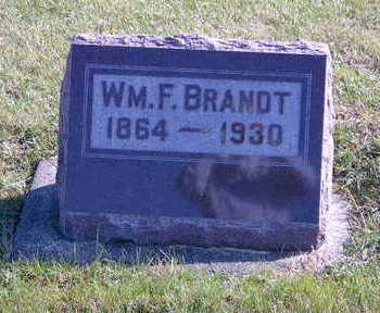BRANDT, WILLIAM F. - Allamakee County, Iowa | WILLIAM F. BRANDT