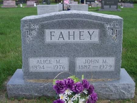 FAHEY, ALICE - Allamakee County, Iowa | ALICE FAHEY
