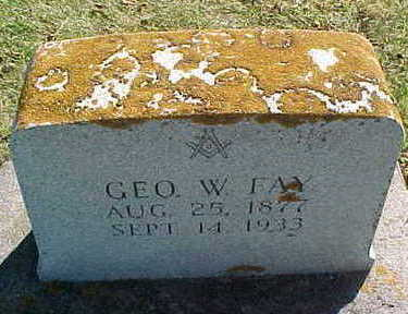 FAY, GEORGE  W. - Allamakee County, Iowa | GEORGE  W. FAY