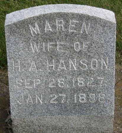 HANSON, MAREN - Allamakee County, Iowa | MAREN HANSON