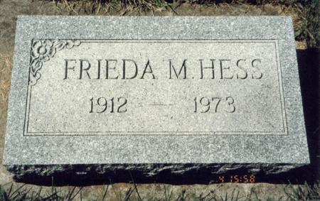 HESS, FRANCES MATILDA - Allamakee County, Iowa   FRANCES MATILDA HESS