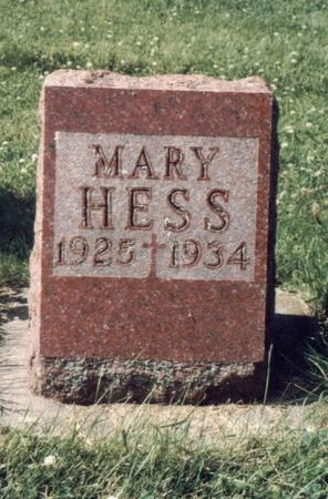 HESS, MARY - Allamakee County, Iowa | MARY HESS