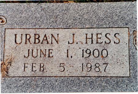 HESS, URBAN J - Allamakee County, Iowa | URBAN J HESS
