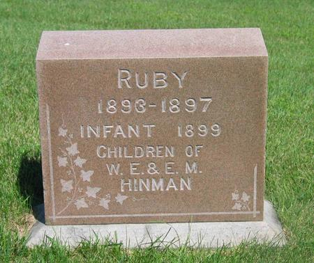 HINMAN, RUBY & INFANT - Allamakee County, Iowa | RUBY & INFANT HINMAN