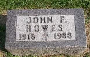HOWES, JOHN F. - Allamakee County, Iowa   JOHN F. HOWES