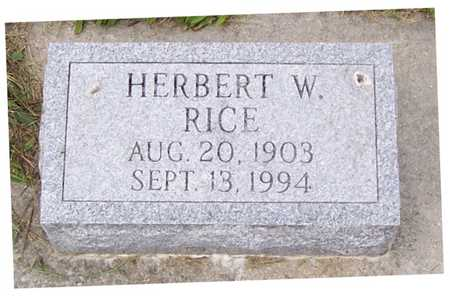 RICE, HERBERT W. - Allamakee County, Iowa | HERBERT W. RICE