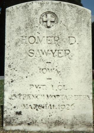 SAWYER, HOMER - Allamakee County, Iowa | HOMER SAWYER