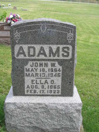 ADAMS, JOHN W. - Appanoose County, Iowa | JOHN W. ADAMS
