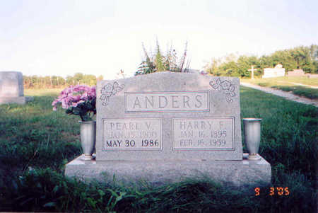 ANDERS, HARRY FRANKLIN - Appanoose County, Iowa | HARRY FRANKLIN ANDERS