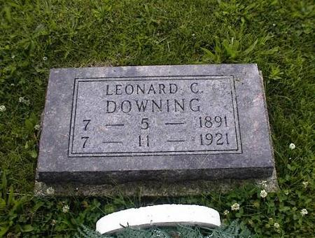 DOWNING, LEONARD C. - Appanoose County, Iowa | LEONARD C. DOWNING