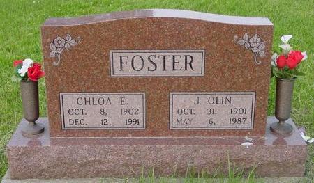 BOYER FOSTER, CHLOA E. AND J. OLIN - Appanoose County, Iowa | CHLOA E. AND J. OLIN BOYER FOSTER