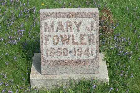 FOWLER, MARY J. - Appanoose County, Iowa | MARY J. FOWLER