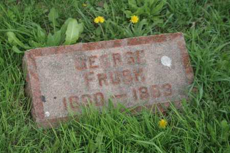 FRUSH, GEORGE - Appanoose County, Iowa | GEORGE FRUSH