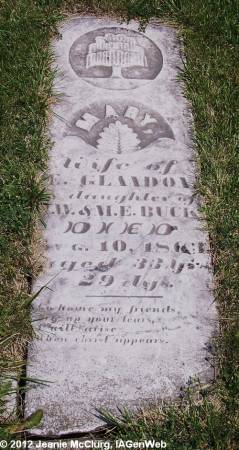 GLANDON, MARY - Appanoose County, Iowa | MARY GLANDON