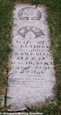 BUCK GLANDON, MARY - Appanoose County, Iowa | MARY BUCK GLANDON