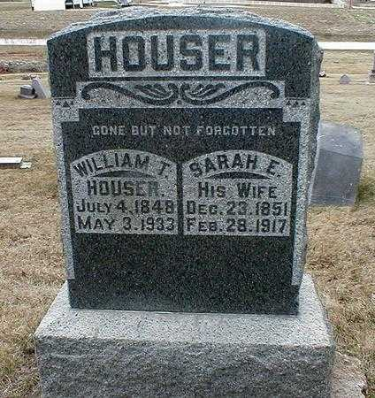 HOUSER, SARAH E. - Appanoose County, Iowa | SARAH E. HOUSER