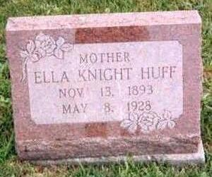 KNIGHT HUFF, ELLA - Appanoose County, Iowa | ELLA KNIGHT HUFF