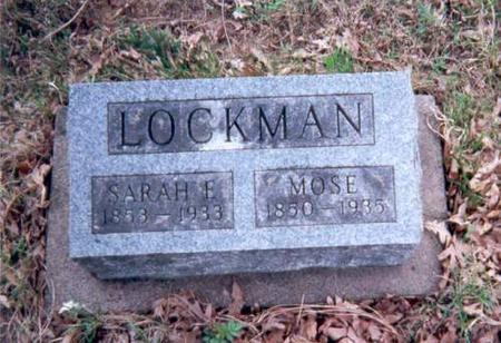 LOCKMAN, SARAH E AND MOSE - Appanoose County, Iowa | SARAH E AND MOSE LOCKMAN