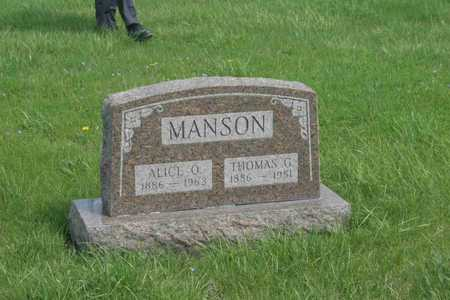 MANSON, ALICE O. - Appanoose County, Iowa | ALICE O. MANSON