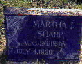 SHARP, MARTHA - Appanoose County, Iowa | MARTHA SHARP