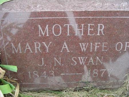 SWAN, MARY A - Appanoose County, Iowa | MARY A SWAN
