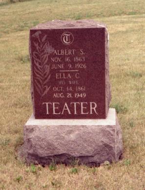 TEATER, ELLA C. & ALBERT S. - Appanoose County, Iowa | ELLA C. & ALBERT S. TEATER