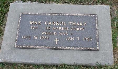 THARP, MAX CARROL - Appanoose County, Iowa   MAX CARROL THARP