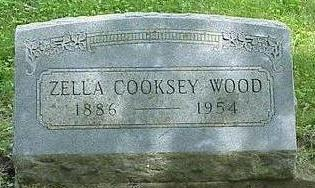 COOKSEY WOOD, ZELLA D - Appanoose County, Iowa | ZELLA D COOKSEY WOOD