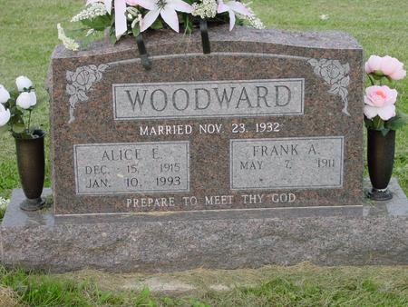 WOODWARD, ALICE E. AND FRANK A. - Appanoose County, Iowa | ALICE E. AND FRANK A. WOODWARD