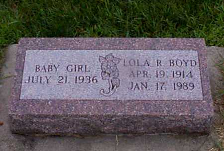 BOYD, LOLA   INFANT - Audubon County, Iowa | LOLA   INFANT BOYD
