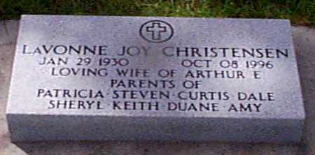 CHRISTENSEN, LAVONNE JOY - Audubon County, Iowa | LAVONNE JOY CHRISTENSEN