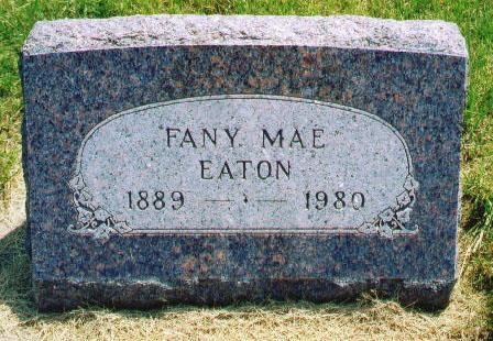 LEFFINGWELL EATON, FANNY MAE - Audubon County, Iowa | FANNY MAE LEFFINGWELL EATON