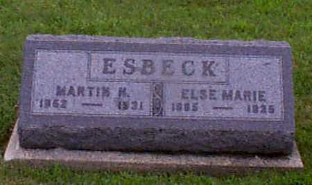 CHRISTENSEN ESBECK, ELSE MARIE - Audubon County, Iowa | ELSE MARIE CHRISTENSEN ESBECK