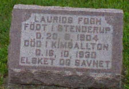 FOGH, LAURIDS - Audubon County, Iowa   LAURIDS FOGH