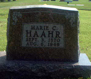 HAAHR, MARIE C. - Audubon County, Iowa | MARIE C. HAAHR