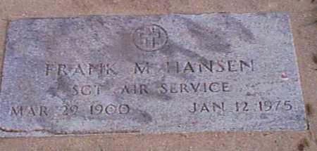 HANSEN, FRANK M - Audubon County, Iowa | FRANK M HANSEN