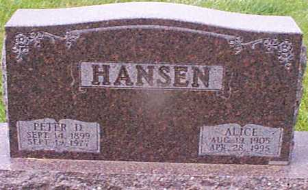 HANSEN, ALICE - Audubon County, Iowa | ALICE HANSEN