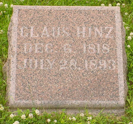 HINZ, CLAUS - Audubon County, Iowa | CLAUS HINZ