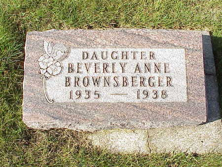 BROWNSBERGER, BEVERLY ANNE - Audubon County, Iowa   BEVERLY ANNE BROWNSBERGER