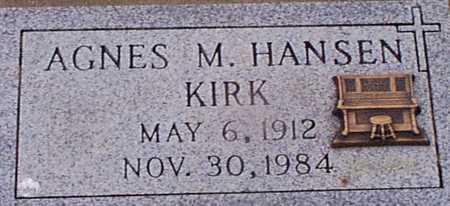 HANSEN KIRK, AGNES M - Audubon County, Iowa | AGNES M HANSEN KIRK