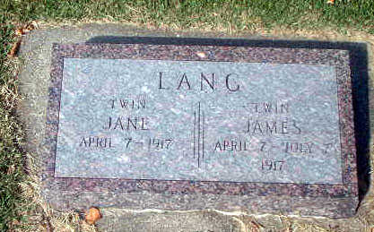 LANG, JAMES - Audubon County, Iowa | JAMES LANG